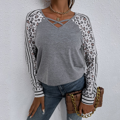 Women's Solid Color Loose Long-sleeved T-shirt Nihaostyles Clothing Wholesale NSDF73708
