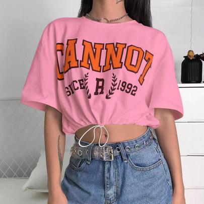 Women's Printing Loose Short-sleeved T-shirt Nihaostyles Clothing Wholesale NSXPF73746