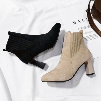 Pointed High Heel Short Boots Nihaostyles Clothing Wholesale NSYUS73778