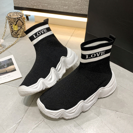 Flat Casual Socks Boots Knitted High-top Shoes Nihaostyles Clothing Wholesale NSYUS74950