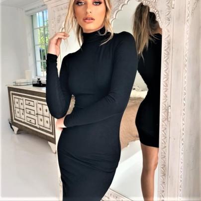 Women's High-neck Long-sleeved Slim Dress Nihaostyles Clothing Wholesale NSLIH73891