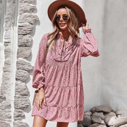 Women's Long-sleeved Floral Dress Nihaostyles Clothing Wholesale NSDY73908