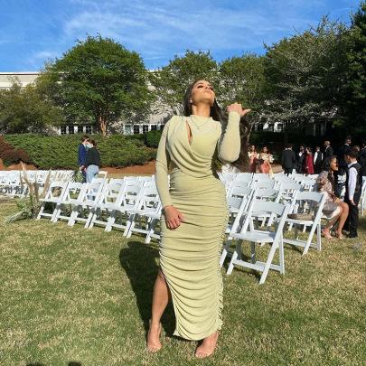 Women's Round Neck Long-sleeved Hollow Slim Mid-length Dress Nihaostyles Clothing Wholesale NSXPF74054