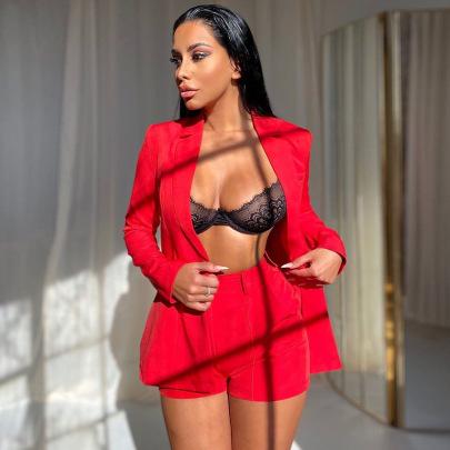 Women's Lapel Long-sleeved Mid-length Blazer Nihaostyles Clothing Wholesale NSXPF74058