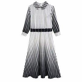 Black And White Plaid Print Dress Nihaostyles Wholesale Clothing Vendor NSAM74101