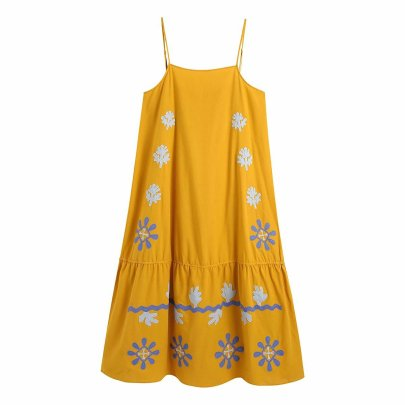 Embroidered Sling Ethnic Dress Nihaostyles Wholesale Clothing Vendor NSAM74106