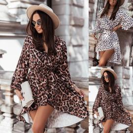 Printed Long Sleeve Dress Nihaostyles Wholesale Clothing Vendor NSOUY74939