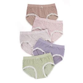 Lace-edge Mid-waist Panties Nihaostyles Wholesale Clothing Vendor NSLSD74250