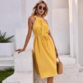 Strapless Halter Vest Dress Nihaostyles Wholesale Clothing Vendor NSAL74277