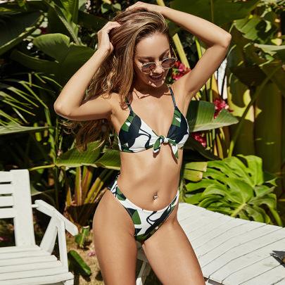 Sexy Printing Split Swimsuit Nihaostyles Wholesale Clothing Vendor NSLM74436