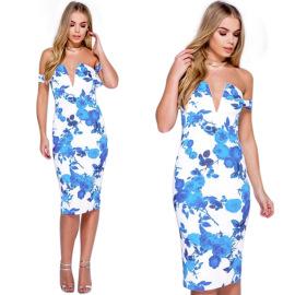 Women's Multicolor V-neck Bandage Dress Nihaostyles Clothing Wholesale NSWNY74539
