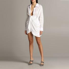 Sexy Lace-up Long-sleeved Dress Nihaostyles Wholesale Clothing Vendor NSXPF74570