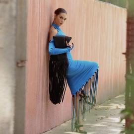 Sexy Halter Long Sleeve Dress Nihaostyles Wholesale Clothing Vendor NSXPF74584