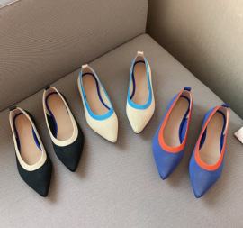 Fashion Color Trim Pointed Flats Nihaostyles Wholesale Clothing Vendor NSCA74596
