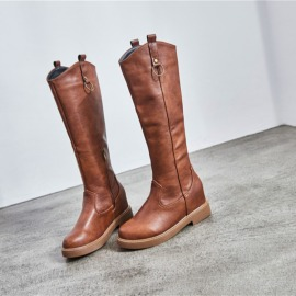Plus Velvet Long Mid-top Boots Nihaostyles Wholesale Clothing Vendor NSCA74597