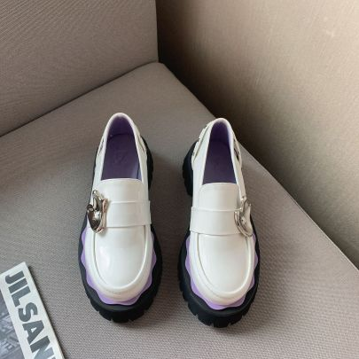 New Thick-soled Loafers Nihaostyles Wholesale Clothing Vendor NSCA74604