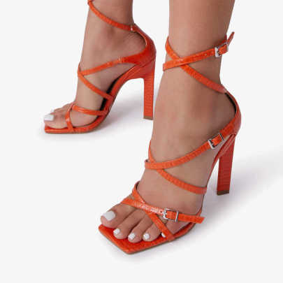 Sexy Buckle Cross Belt Hollow High Heel Sandals Nihaostyles Wholesale Clothing Vendor NSCA74613