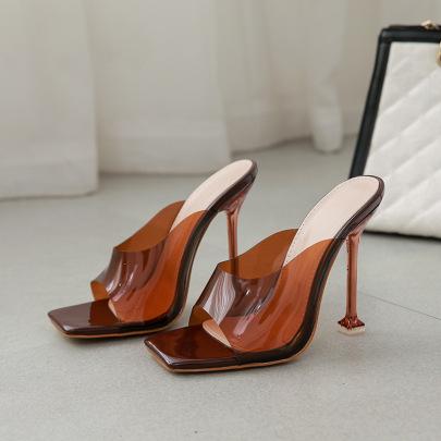 PVC Plating High-heel Sandals Nihaostyles Wholesale Clothing Vendor NSCA74633