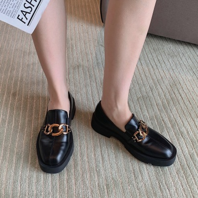 Square Head Leather Shoes Nihaostyles Wholesale Clothing Vendor NSCA74642