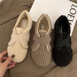 Velcro Cotton Plush Shoes Nihaostyles Wholesale Clothing Vendor NSCA74644