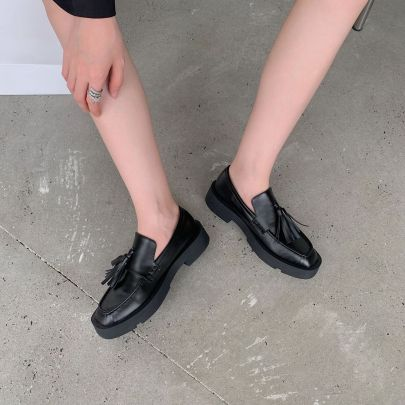 Fashion Solid Color Lace-up Flats Nihaostyles Wholesale Clothing Vendor NSCA74649