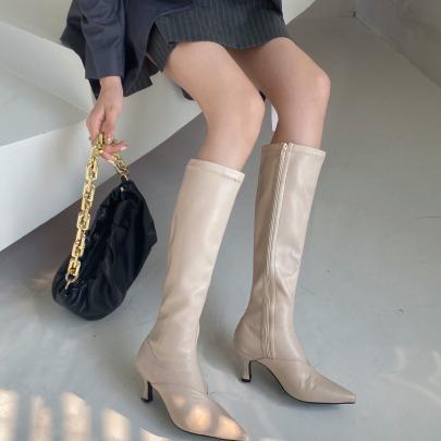 Pointed Toe Stiletto High Heel Martin Boots Nihaostyles Wholesale Clothing Vendor NSCA74654