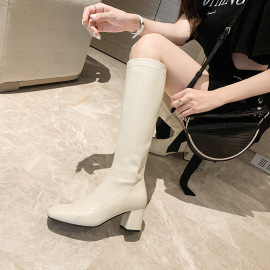 Thick High Heel Stretch Knight Boots Nihaostyles Wholesale Clothing Vendor NSCA74661