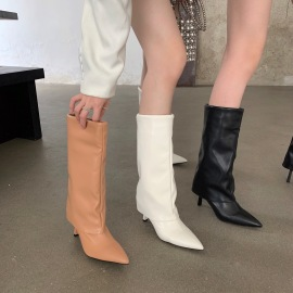 Pointed High-heeled Long Boots Nihaostyles Wholesale Clothing Vendor NSCA74668