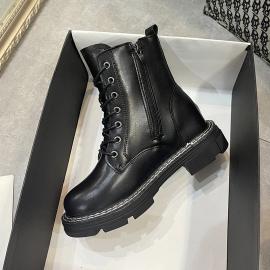 Platform Side Zip Martin Boots Nihaostyles Clothing Wholesale NSYUS74927