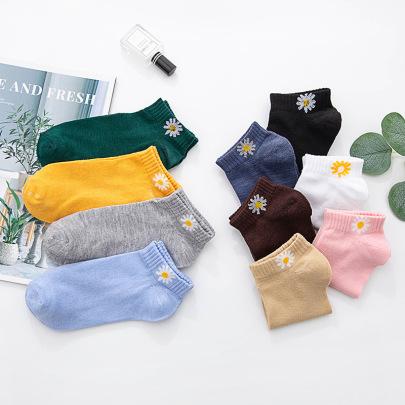 Daisy Polyester Cotton Women's Socks 10-pairs NSASW74693