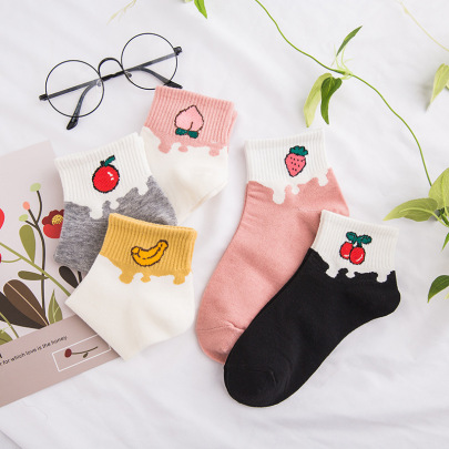 Polyester Cotton Low-cut Socks 10-pairs NSASW74708