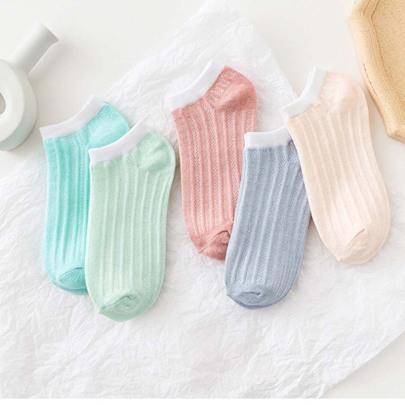 Ladies' Striped Polyester Cotton Socks 10 Pairs Nihaostyles Clothing Wholesale NSASW74723