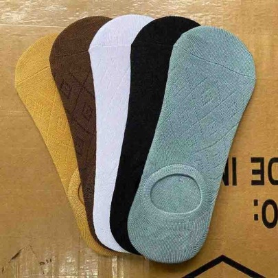 Lattice Polyester Cotton Mesh Non-slip Silicone Socks 10 Pairs Nihaostyles Clothing Wholesale NSASW74728
