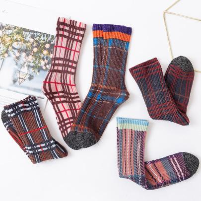 Women's Cotton Long Tube Socks 5-pairs  NSASW74733