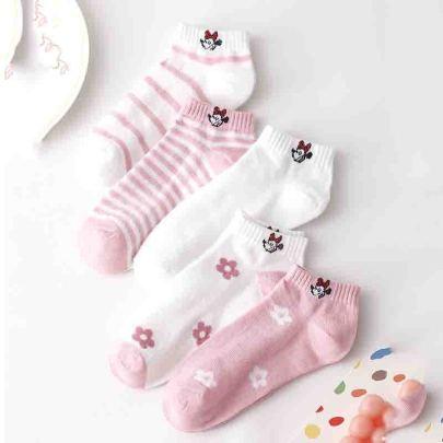 Women's Polyester Cotton Socks 10pairs NSASW74737