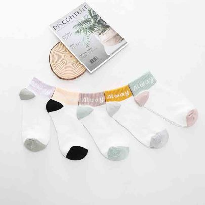 Women's Low-cut Polyester Cotton Socks 10 Pairs NSASW74738