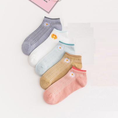 Women's Low Cut Cotton Socks 10 Pairs Nihaostyles Clothing Wholesale NSASW74739