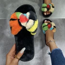 Bowknot Plush Slippers Nihaostyles Wholesale Clothing Vendor NSKJX74764