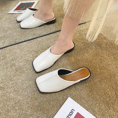 Low-heel Lazy Round Flat Slippers Nihaostyles Wholesale Clothing Vendor NSKJX74767