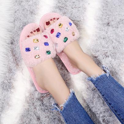 Rhinestone Ladies Slippers Nihaostyles Wholesale Clothing Vendor NSKJX74770