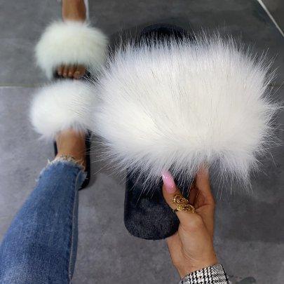 Fashion Outer Wear Plush Slippers Nihaostyles Wholesale Clothing Vendor NSKJX74771