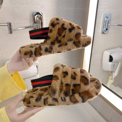 Thick-soled One-word Plush Slippers Nihaostyles Wholesale Clothing Vendor NSKJX74772
