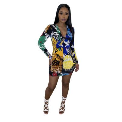 Women's Graffiti Dress Nihaostyles Clothing Wholesale NSOML74809