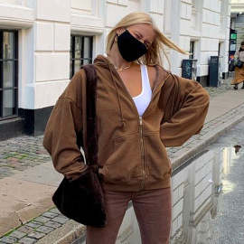 New Loose Hooded Large Pockets Sweatshirt Nihaostyles Wholesale Clothing Vendor NSXPF74888