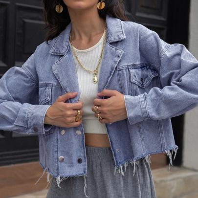 Women's Denim Jacket Nihaostyles Clothing Wholesale NSLM74906