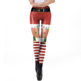 Women's Print Stretch Leggings Nihaostyles Clothing Wholesale NSNDB71129