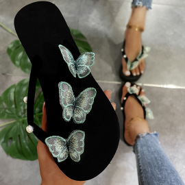 Women's Butterfly Beach Slippers Nihaostyles Clothing Wholesale NSKJX71195