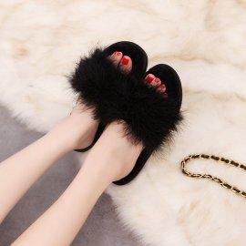 Women's Ostrich Wool Slippers Nihaostyles Clothing Wholesale NSKJX71199