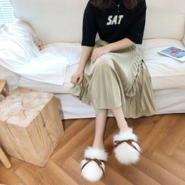 Autumn And Winter Female Hairy Warmth Slippers Nihaostyles Clothing Wholesale NSKJX71207