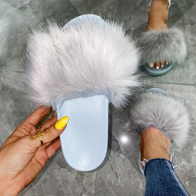 Women's Fur Slippers Nihaostyles Clothing Wholesale NSKJX71209